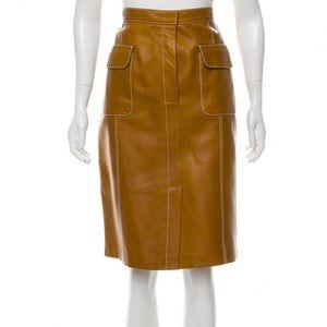 Linda Allard Ellen Tracy Leather Skirt